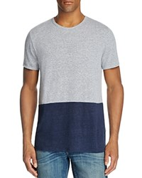 Onia Chad Color Block Tee Heather Grey Deep Navy