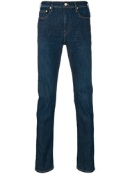 Paul Smith Ps By High Rise Straight Jeans Cotton Polyester Spandex Elastane Other Fibres Blue
