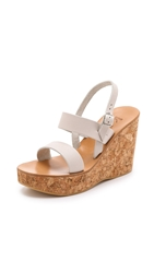 K. Jacques Borneo Two Band Wedges Pul Linen