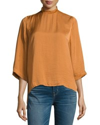 Lucca Couture Priya High Neck Top Brown