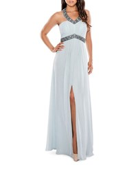 Decode 1.8 Halterneck Gown Light Blue