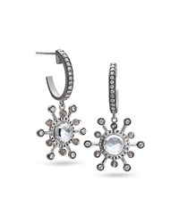Coomi Affinity Smoky Quartz And Diamond Earrings