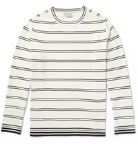 Tomorrowland Striped Knitted Sweater White