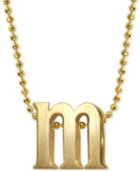 Alex Woo Lowercase M 16 Pendant Necklace In 14K Gold Yellow Gold