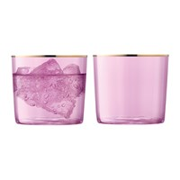 Lsa International Sorbet Tumbler Set Of 2 Rose