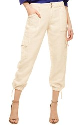 Sanctuary Women's Terrain Linen Crop Cargo Pants