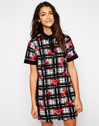 Influence Floral And Grid Print Dress Multi