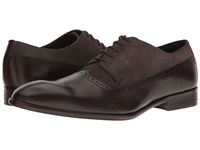 Messico Palmiro Brown Leather Grey Suede Leather Shoes