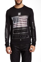 Ecko Unlimited Stars 'N Stripe Crew Neck Tee Black