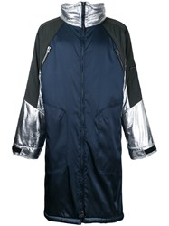 Ex Infinitas Future Surf Snow Coat Nylon Blue