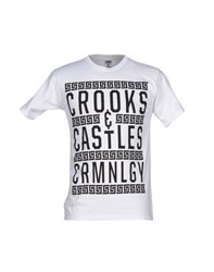 Crooks And Castles Topwear T Shirts Men White