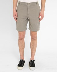 M.Studio Grey Paul Fitted Cotton Shorts