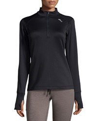 Asics Illusion Keyhole Half Zip Jacket Black