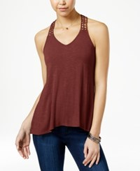 American Rag Crocheted Back High Low Tank Top Only At Macy's Russet Brown