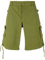 Moschino Logo Pocket Cargo Shorts Men Cotton 50 Green