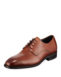 Karl Lagerfeld Burnished Leather Oxford Brown