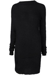 Ann Demeulemeester Ribbed Sweater Black