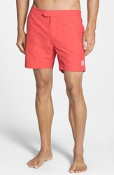 Men's Psycho Bunny Solid Swim Shorts Coral