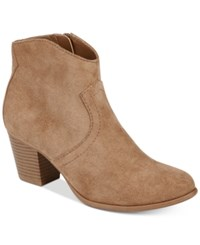 American Rag Rylie Western Ankle Booties Created For Macy's Women's Shoes Sand
