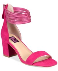Mojo Moxy Cookie Block Heel Sandals Women's Shoes Hot Pink