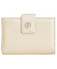 Giani Bernini Softy Leather Wallet Gold Silver