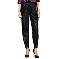 Philosophy Di Lorenzo Serafini Faux Leather High Rise Jogger Pants Black
