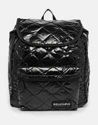 Religion Quilted Backpack Black