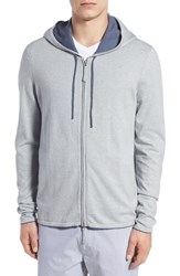 Men's Zachary Prell 'Duomo' Full Zip Hoodie Light Grey