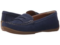 Clarks Doraville Nest Navy Nubuck Women's Slip On Shoes Blue