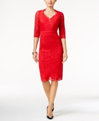 Thalia Sodi Lace Empire Sheath Dress Only At Macy's Lipstick Red