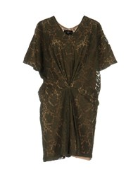 Miss June Short Dresses Military Green