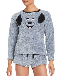 Roudelain Faux Fur Animal Pajama Set Grey