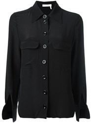 Chloe Cuff Slit Blouse Black