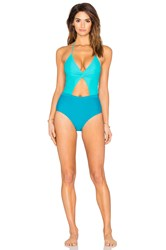 6 Shore Road Divine One Piece Swimsuit Teal