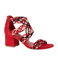 Sandro Lena Suede Sandals 600 Red