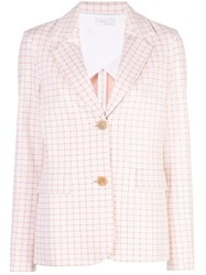 Rosetta Getty Checked Fitted Jacket Pink