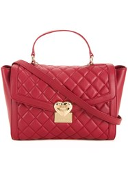 Love Moschino Quilted Medium Tote Red