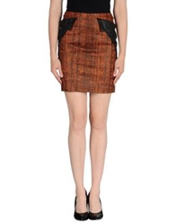 Mauro Gasperi Mini Skirts Dark Brown