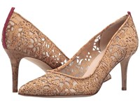Sarah Jessica Parker Fawn 70Mm Marylou Tan Laser Cork Women's Slip On Dress Shoes Beige
