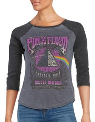 Signorelli Raglan Three Quarter Sleeve Raglan Pink Floyd Band Tee Charcoal