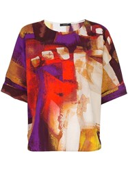 Natori Printed Shirt Top Multicolour