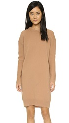 Acne Studios Phebe Shet Wool Sweater Dress Cashew Brown