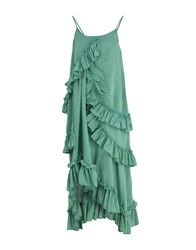 Rose' A Pois Long Dresses Green