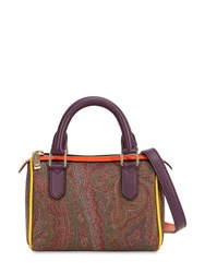 Etro Paisley Printed Faux Leather Bag Multicolor