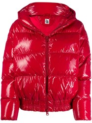 Bacon Zipped Puffer Jacket Red