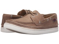 Sebago Ryde Two Eye Dark Taupe Leather Men's Shoes