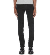 Balmain Faded Slim Fit Skinny Jeans Black