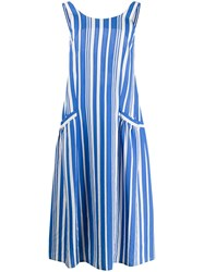 Chinti And Parker Striped Dress Blue