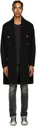 Balmain Pierre Black Long Cardigan