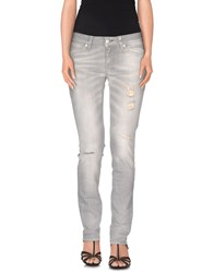 Meltin Pot Denim Denim Trousers Women Light Grey